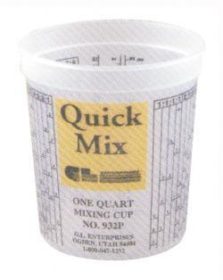 quick mix cups 32oz box of 100 gl enterprises 932. Black Bedroom Furniture Sets. Home Design Ideas