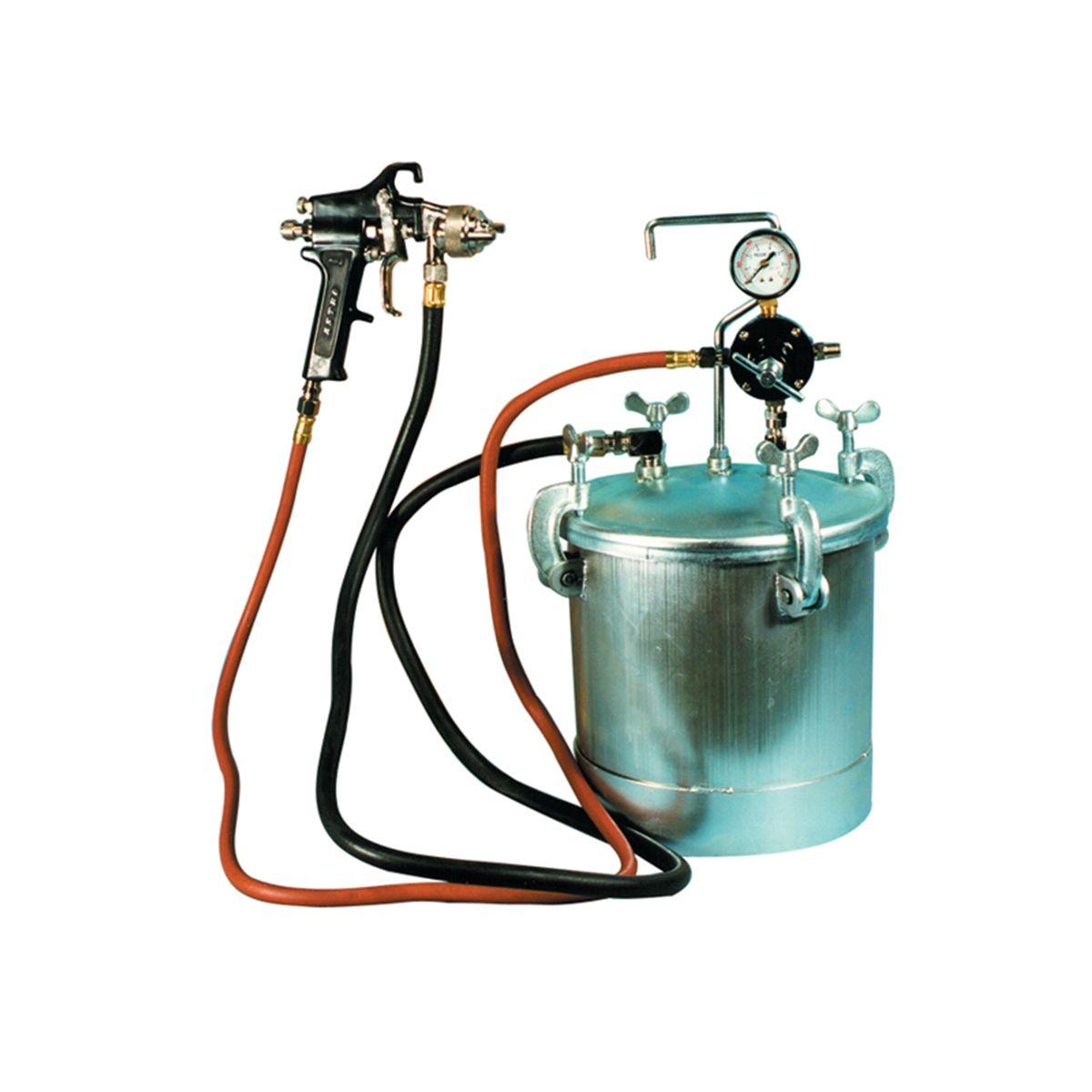 Pressure Paint Gun Pot : Gal pressure tank w spray gun ft hose