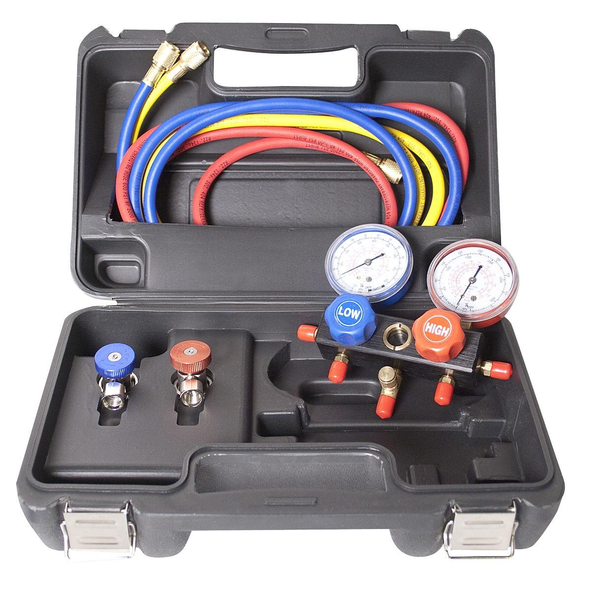 Electronic Auto Gauge Set : Reviews r a aluminum block manifold gauge set w manual