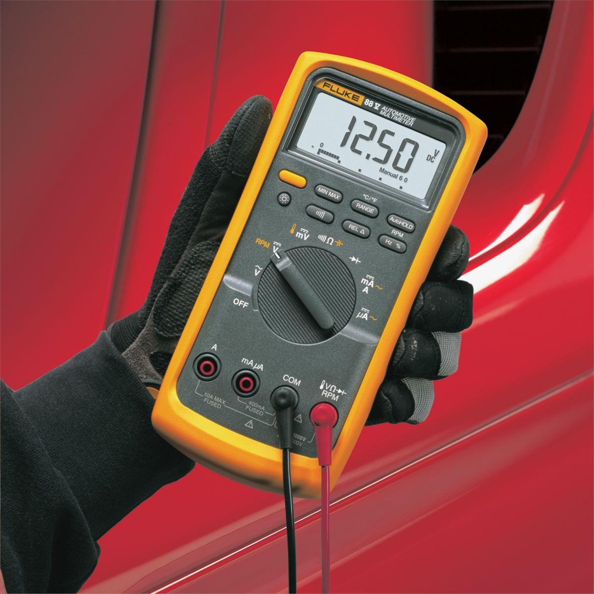 Fluke 88 Digital Multimeter Manual : Fluke v series automotive multimeter flu