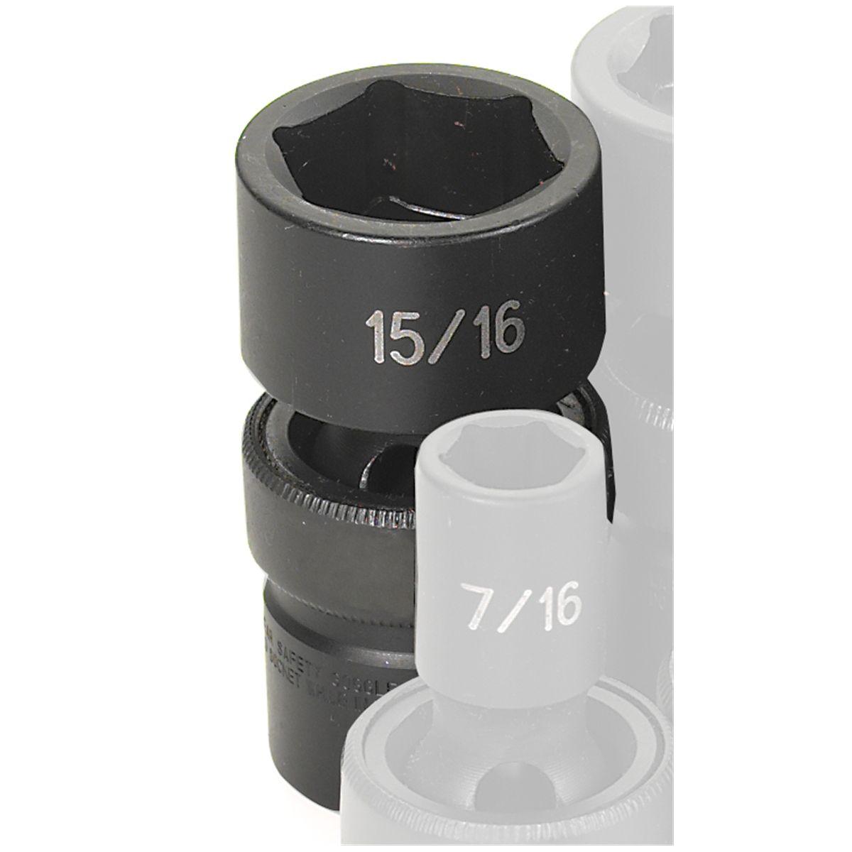 """Grey Pneumatic 3042R 3//4/"""" Drive x 1-5//16/"""" Standard Socket"""