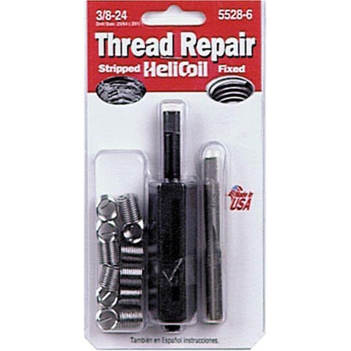 Helicoil 5528-6 3//8-24 Inch Fine Thread Repair Kit