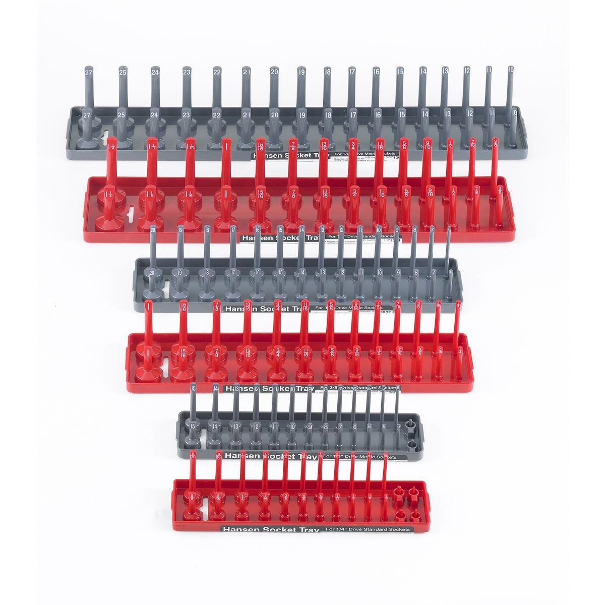 """Hansen global 3pc SAE Socket Tray Set 1//2/"""" 1//4/"""" 3//8/"""" 9301"""