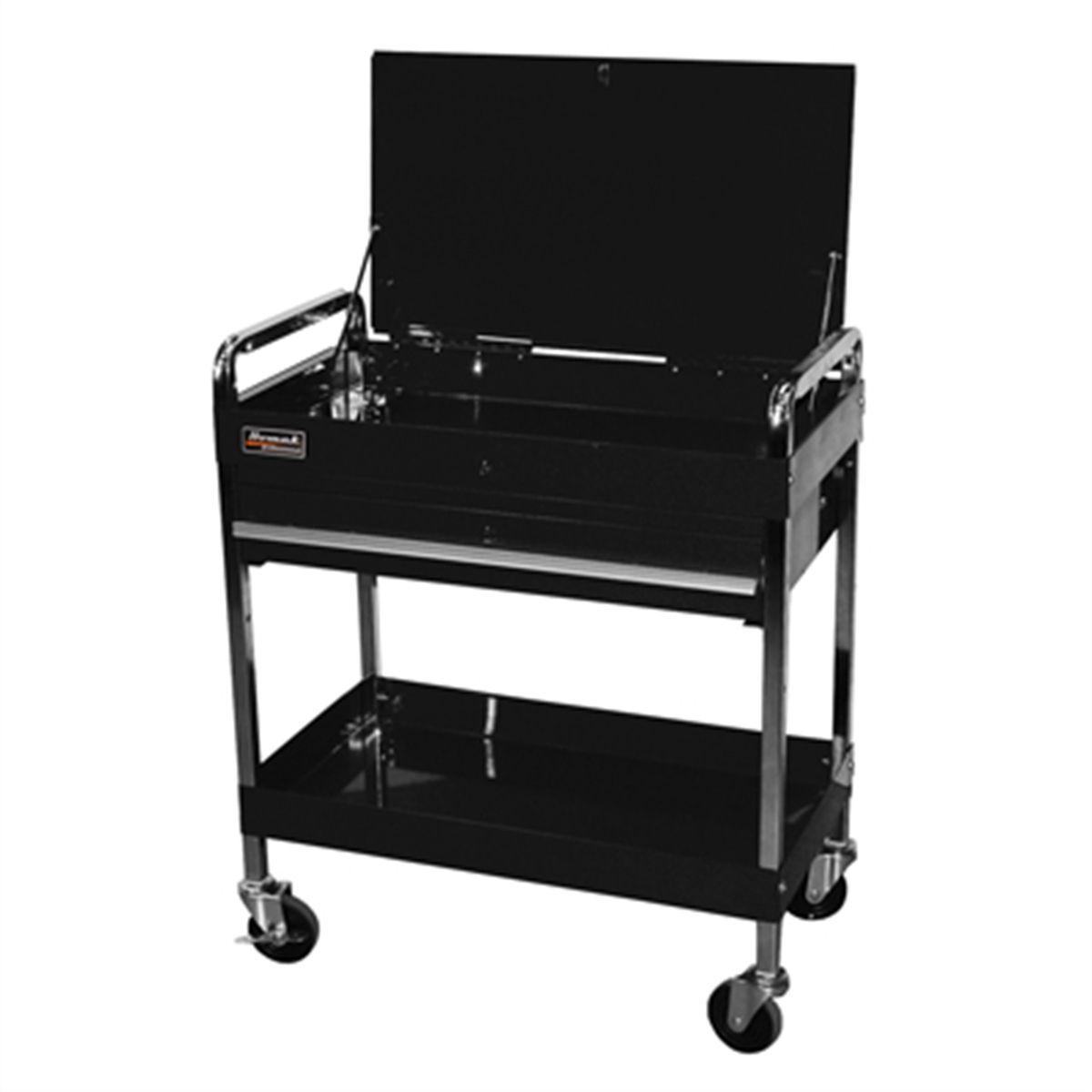 32 Professional Series Service Cart W 1 Drawer Black