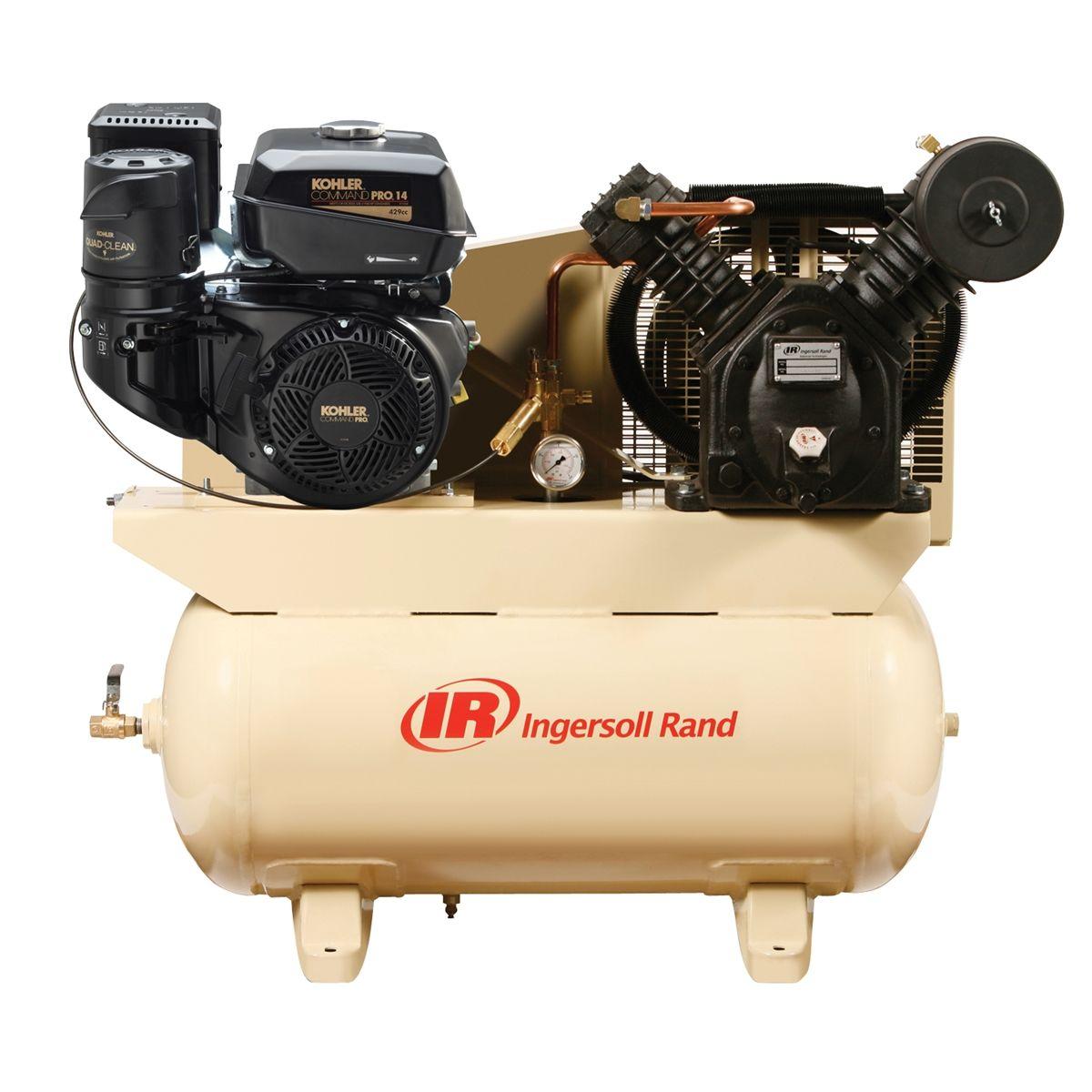 Gas Drive Air Compressor 14hp Kohler Engine Ingersoll