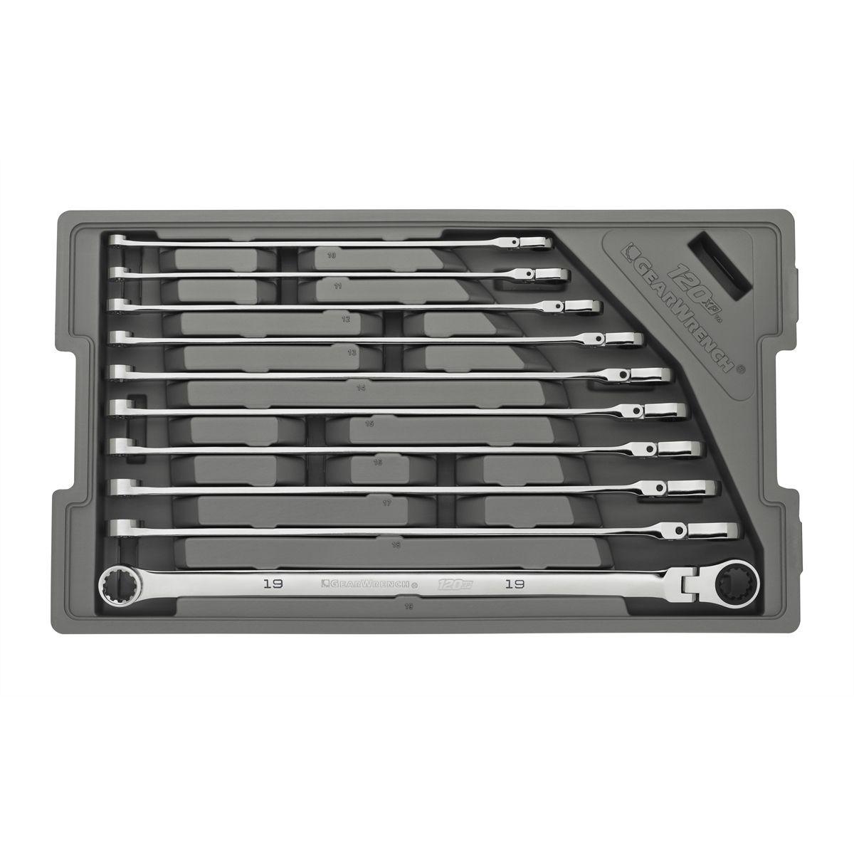 GearWrench 120XP 12 Pc Universal Spline Metric XL Combination Ratcheting 86229