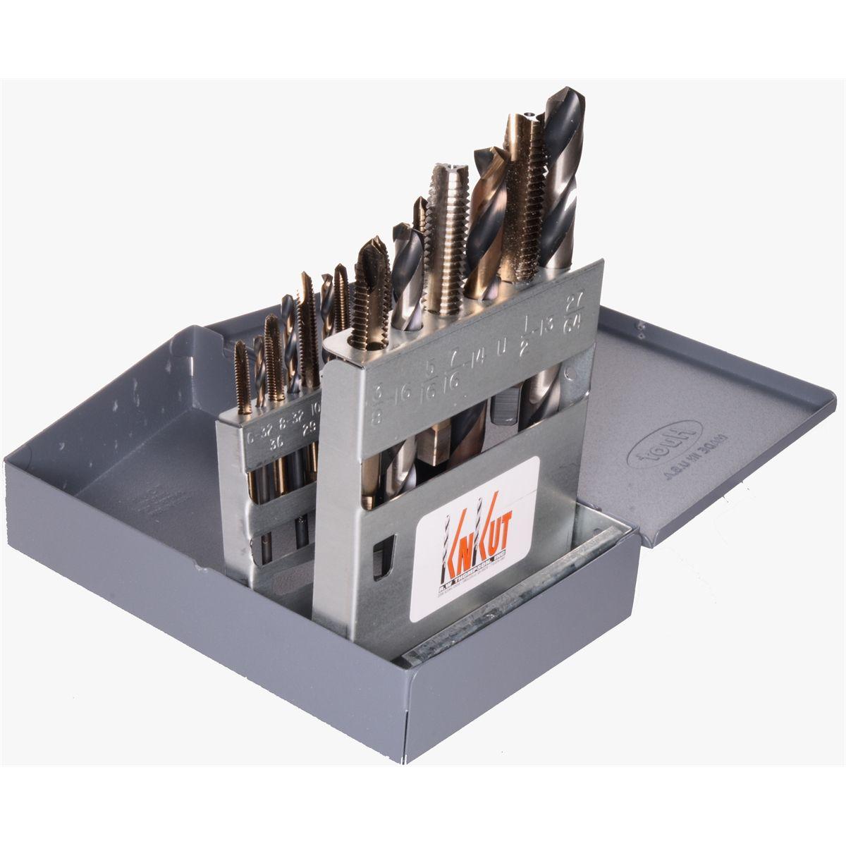 KNKut 15 Pc Fractional Jobber Length Drill BitSet 15KK5