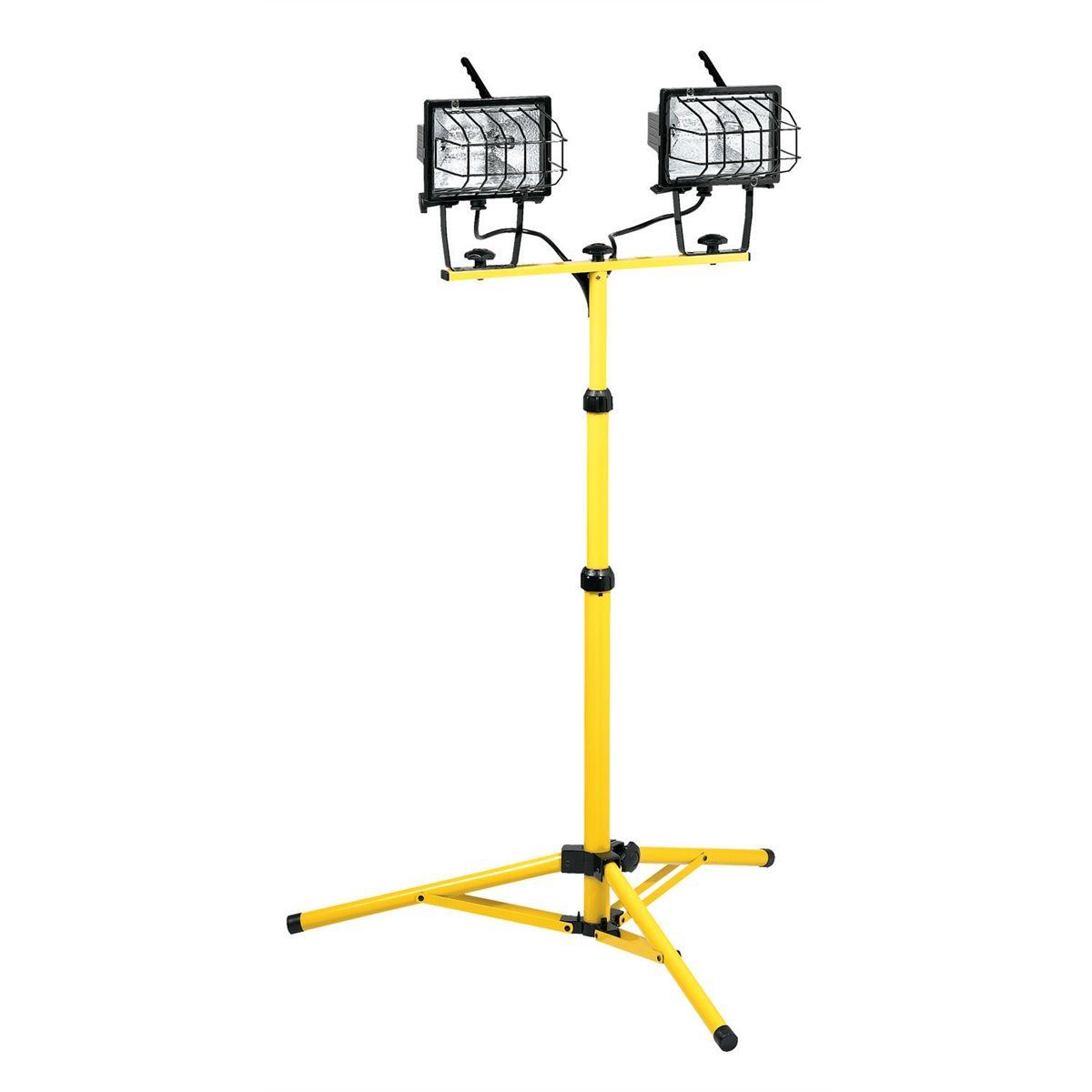 Halogen Lights For Shop: 1000 Watt Halogen Work Light With 5' 18/3 SJTW Cord