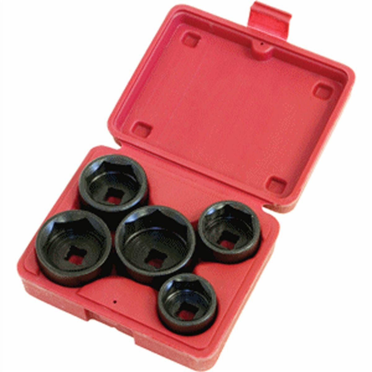Lisle 13300 3 8 In Dr Oil Filter Socket Set Lis13300 Li13300 Mercedes Fuel Hose Tool End Cap 5 Pc