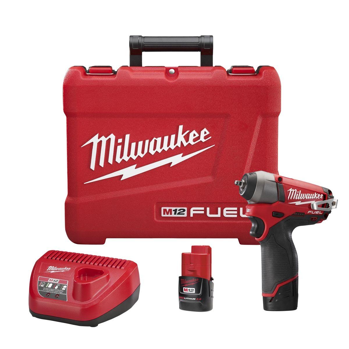 Milwaukee 2452-20 M12 Fuel 1//4 Impact Wrench Bare Tool