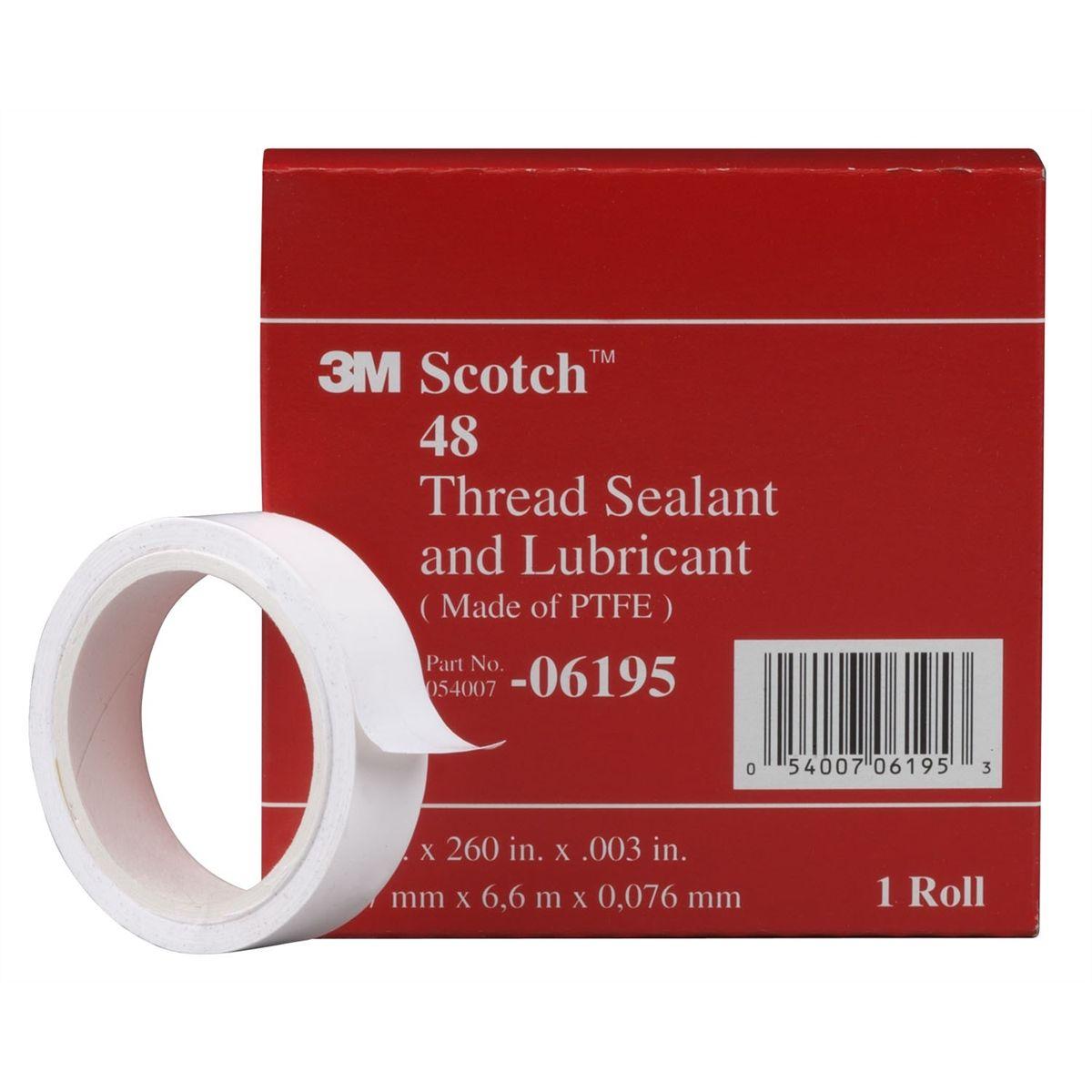 Scotch thread sealant tape inch m