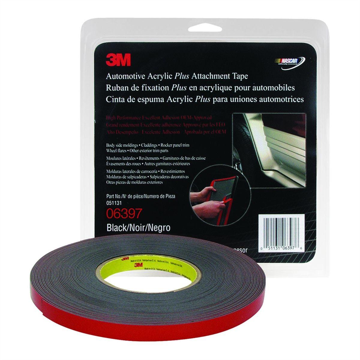 1//2 inch X 20 yards 06380 White 45 mil 3M™ 6380 Automotive Attachment Tape