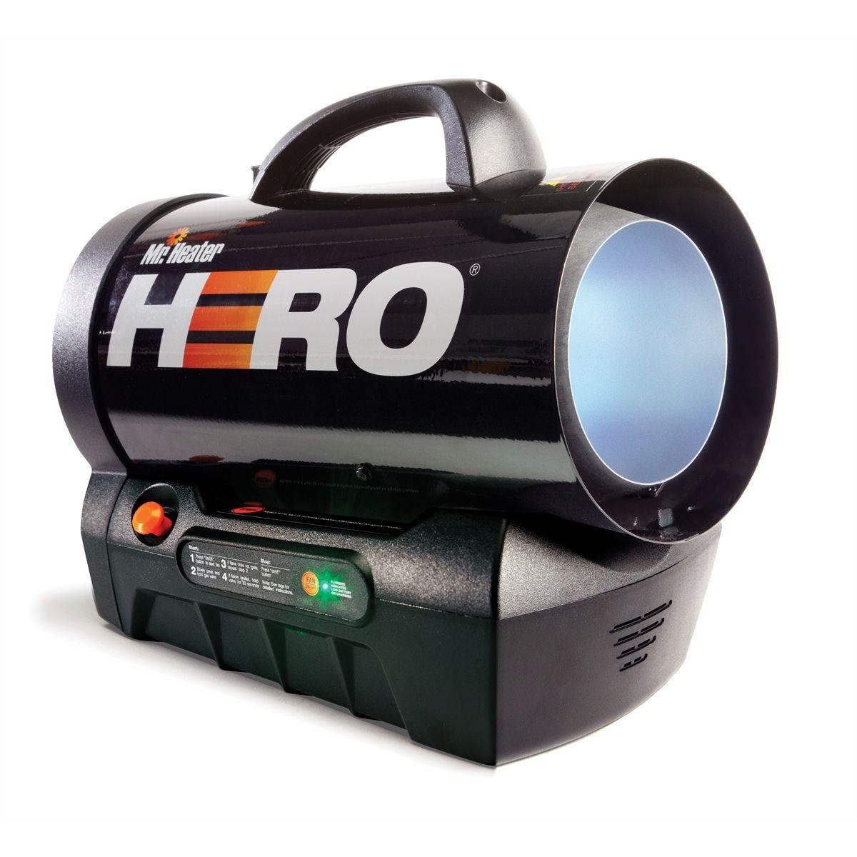 Forced Air Propane Heater >> Mh35clp Hero Cordless Forced Air Propane Heater 35 000 Btu Mr
