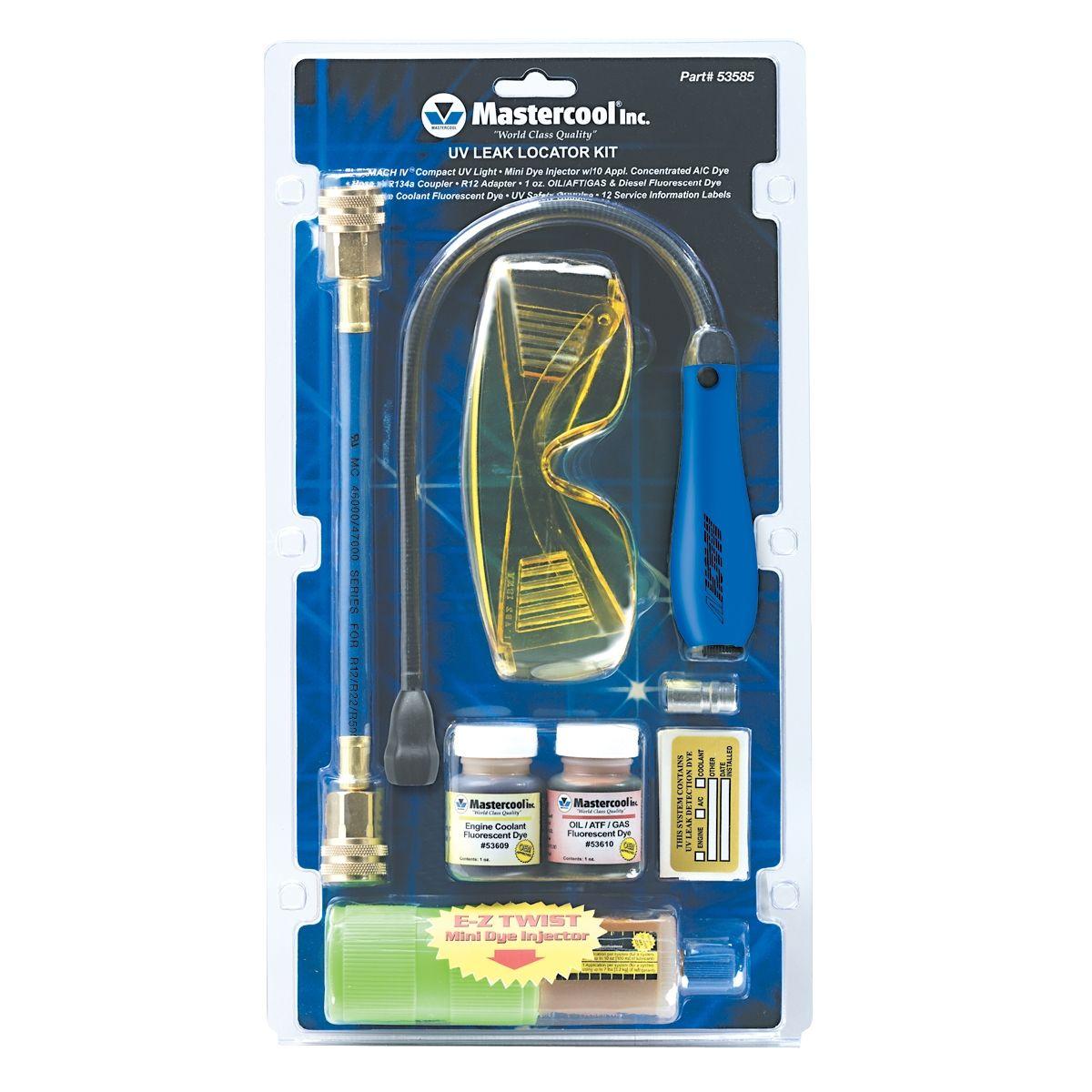 Mastercool uv leak detection kit mach iv 53585 for Used motor oil disposal walmart