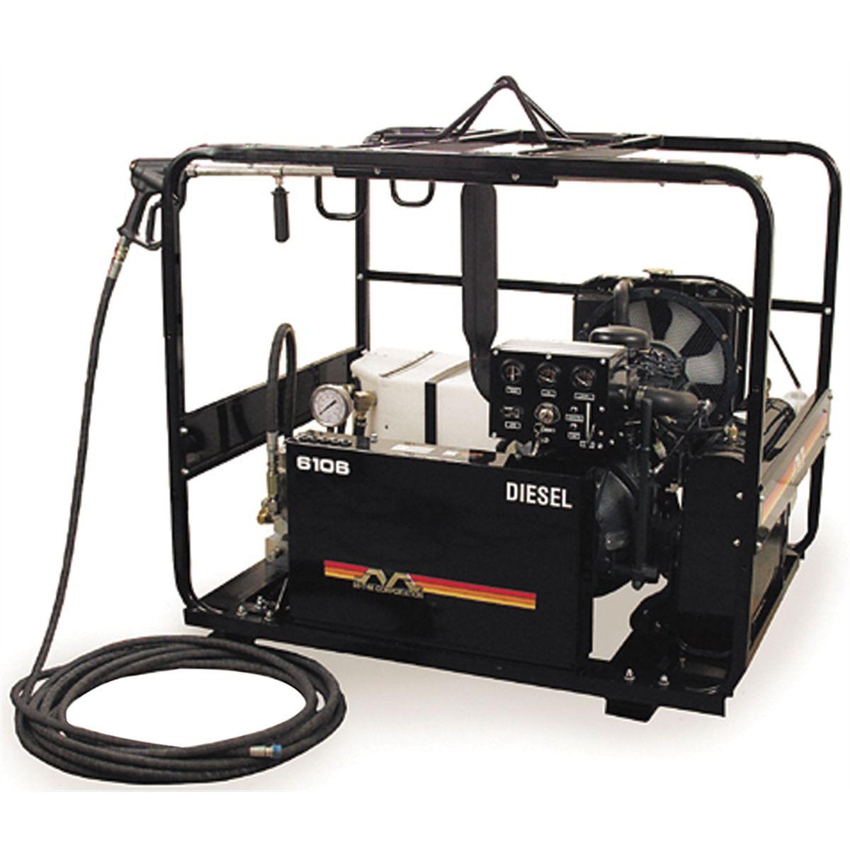 Kubota Diesel Cold Water Pressure Washer, 6100 PSI @ 6 3 GPM