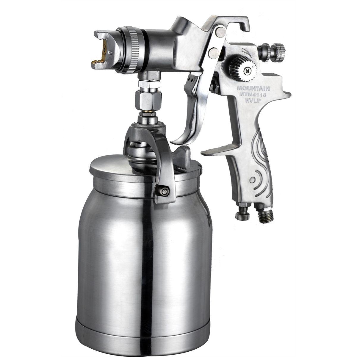 Mountain 1 8 hvlp syphon feed spray gun csg319 isn for Spray gun for oil based paints