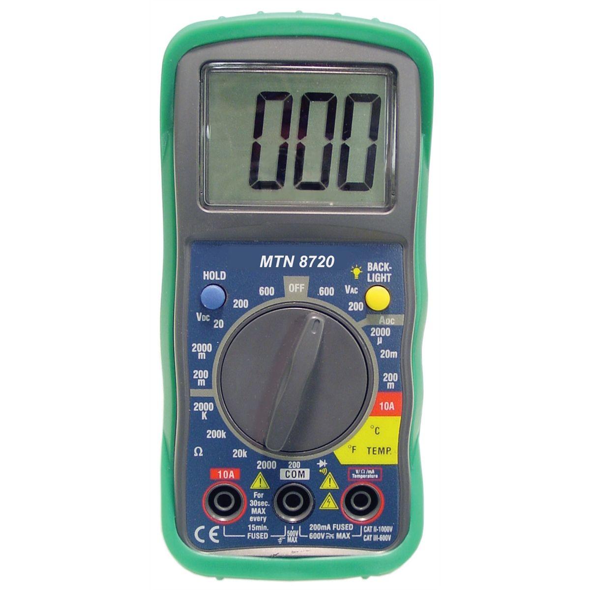 Digital Multimeter Ma : Mountain digital multimeter built in temperature