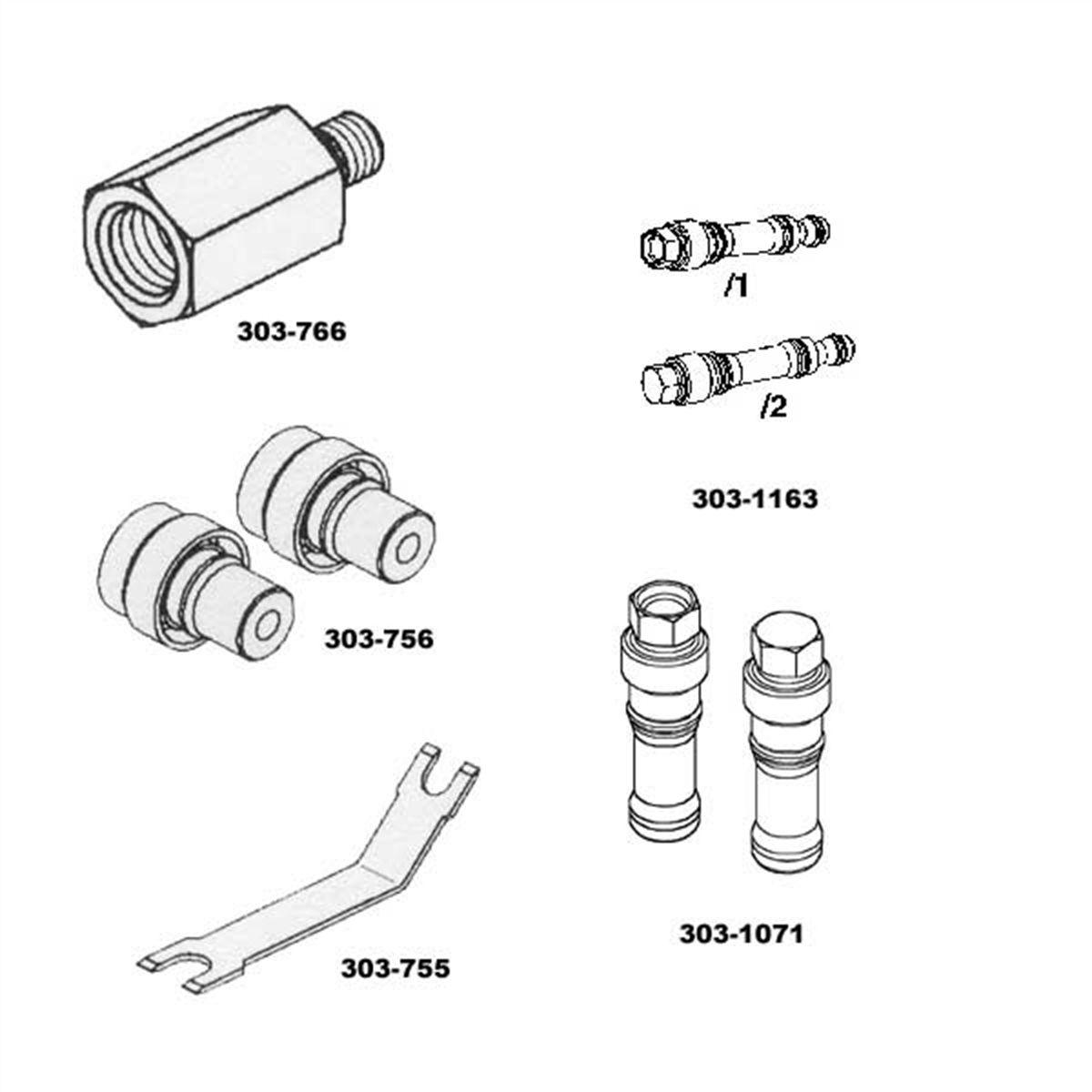 Fuel Injector Rail Pressure Kit 6l Spx Corporation Otc