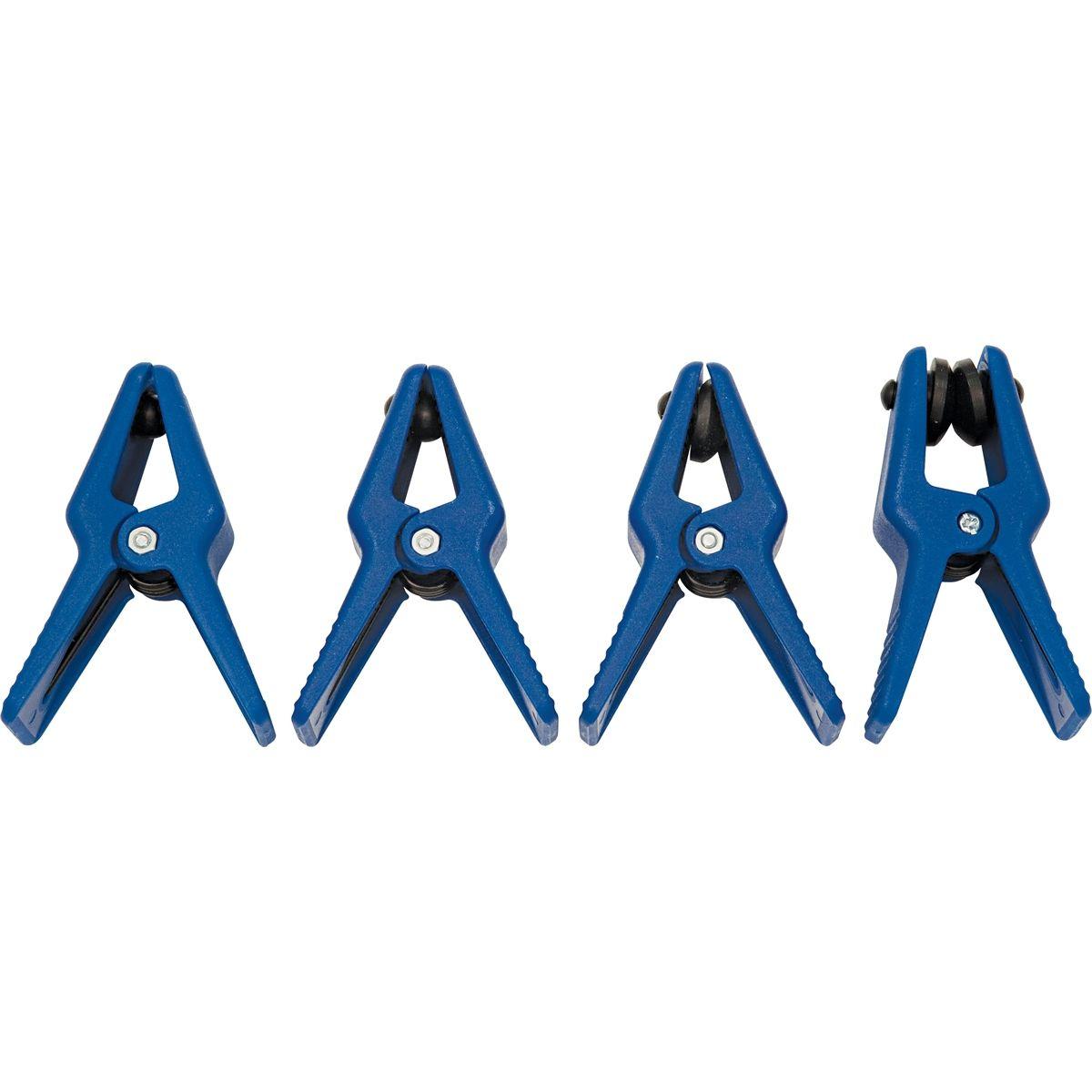 4 Pcs Blue Car Steel Line Stoppers For Fuel Rails//Steel Brake//A//C Line Universal