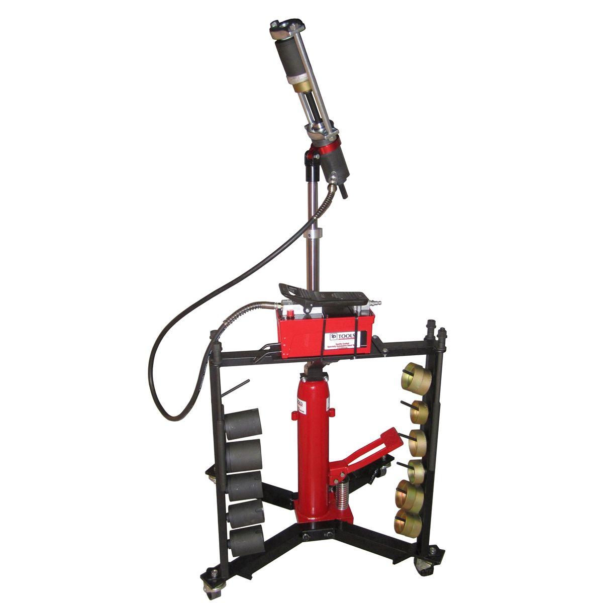 Hand Hydraulic Press ~ Mobile hydraulic press tool w hand pump schley products