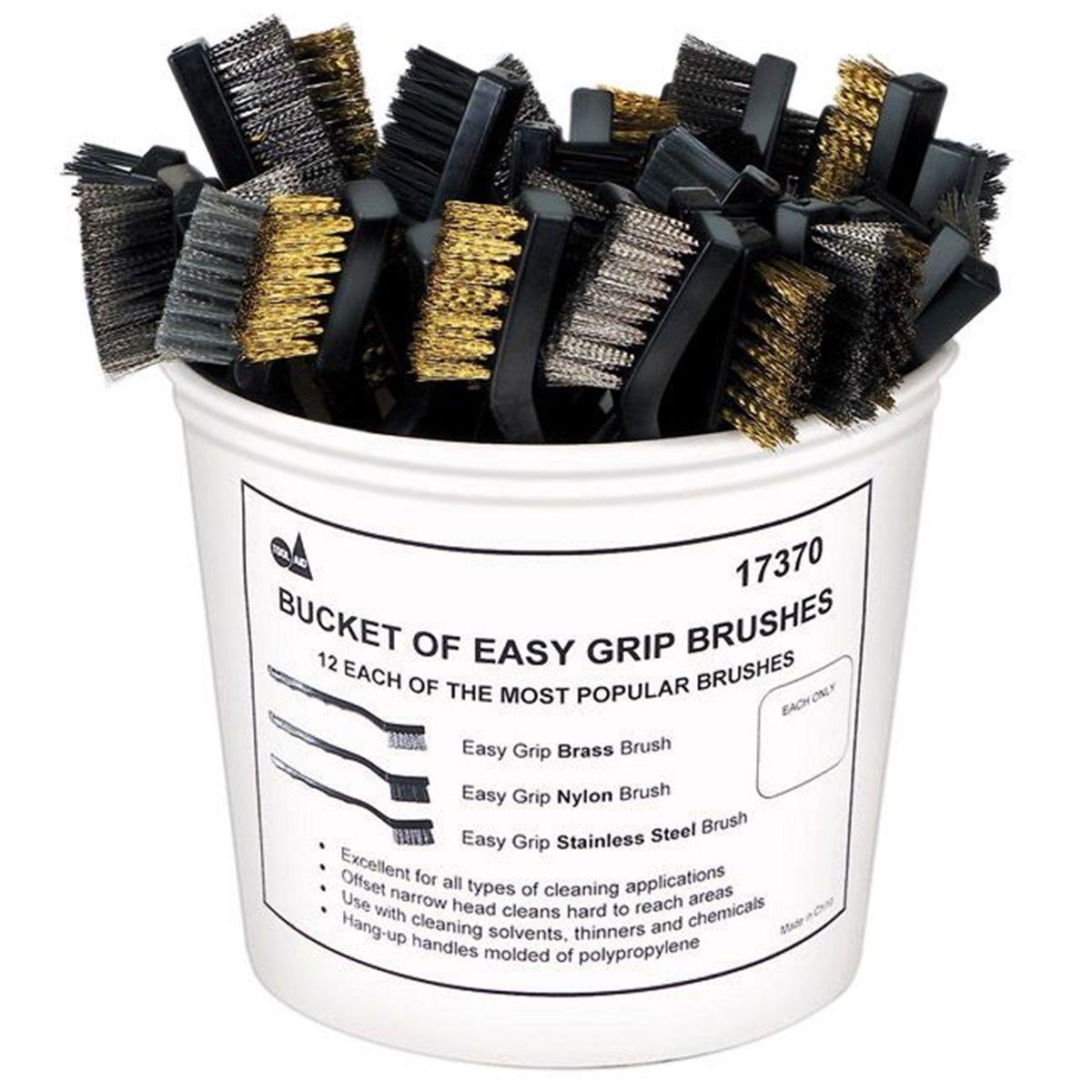 Tool Aid S/&G 17170 Easy Grip Brush Set