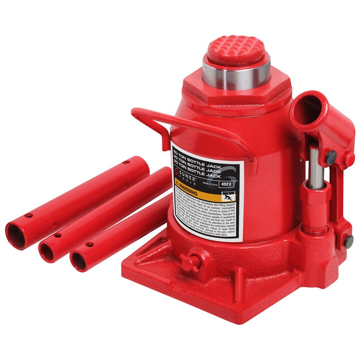 Short Hydraulic Jacks : Bottle jack short ton sunex international a
