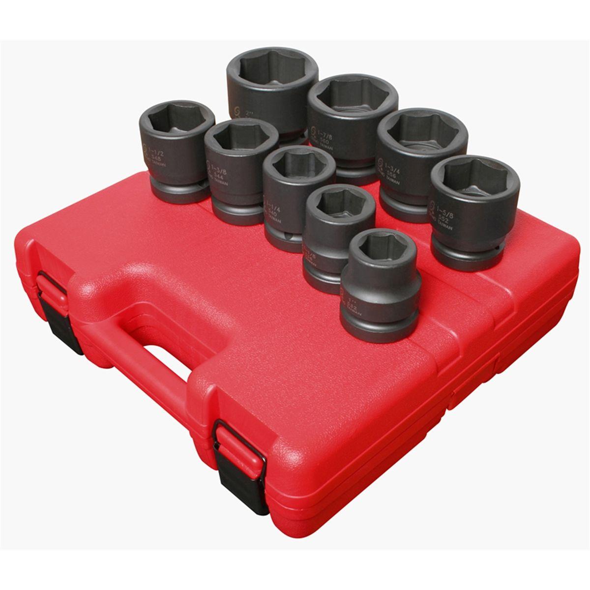 Sunex 5699 9 Piece 1 Drive Standard SAE Jumbo Impact Socket Set