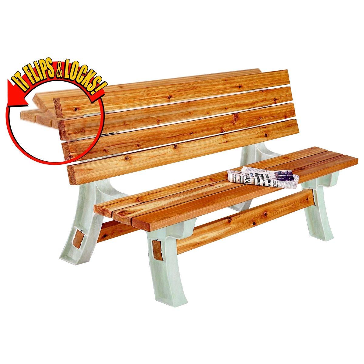 Flip top bench table 28 images 2x4 basics flip top for Flip top picnic table plans