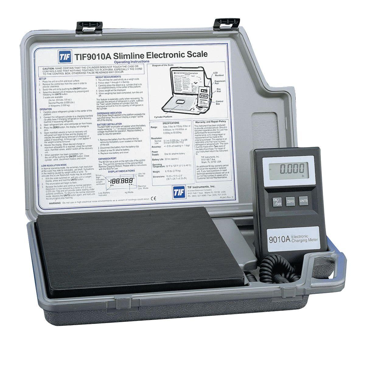 Tif 9010A SlimLine Electronic A/C Refrigerant Charging Scale TIF9010A #576074