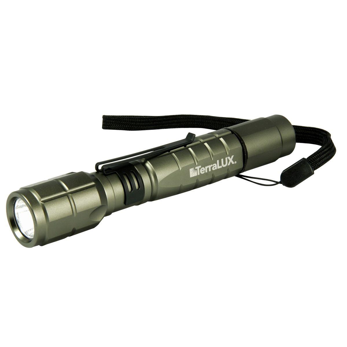 TerraLUX TLF-3002AA-BK LightStar300 3-Watt LED Aluminum Flashlight,Titanium Grey