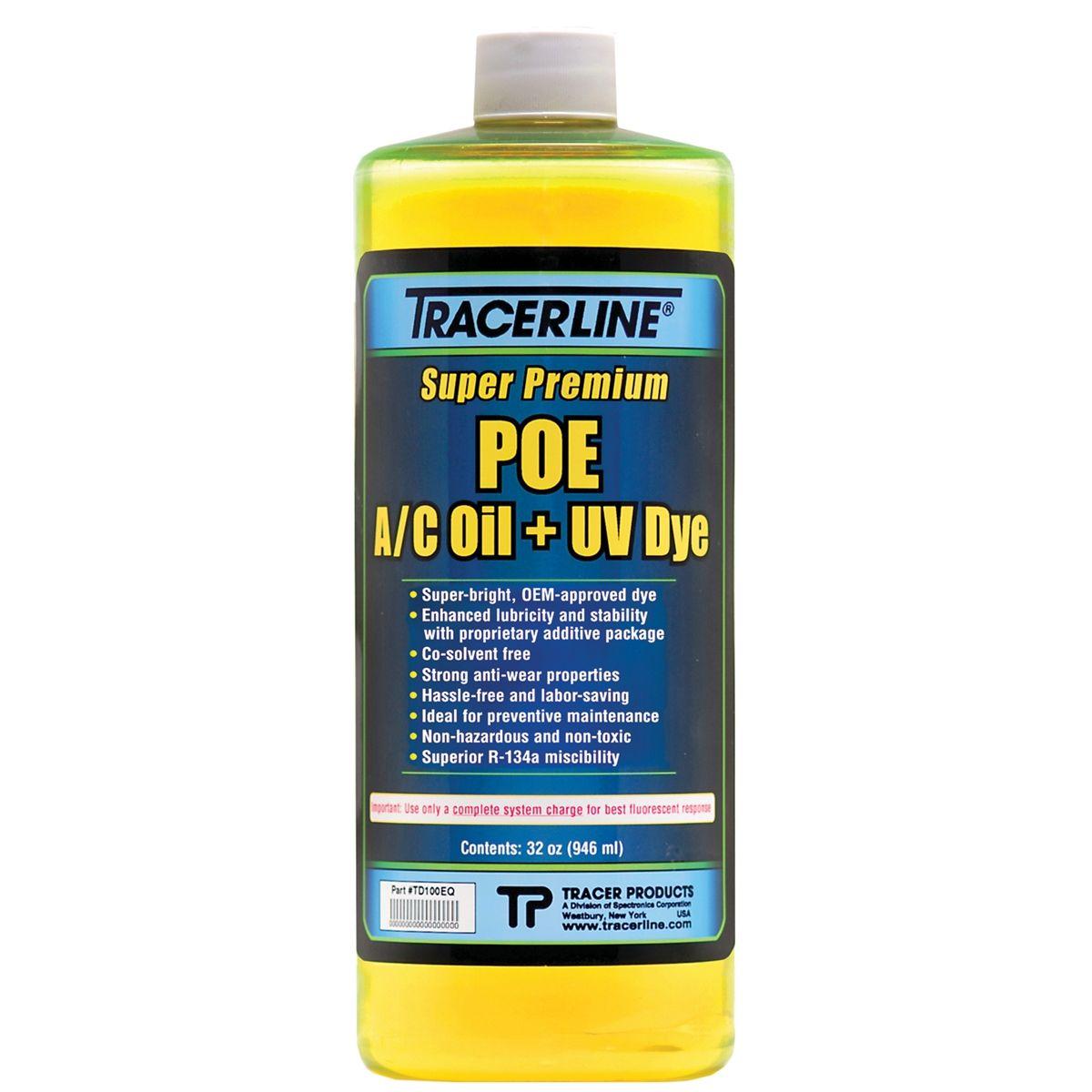Tracer Products 32 OZ BOTTLE POE A/C OIL W/DYE TD100EQ