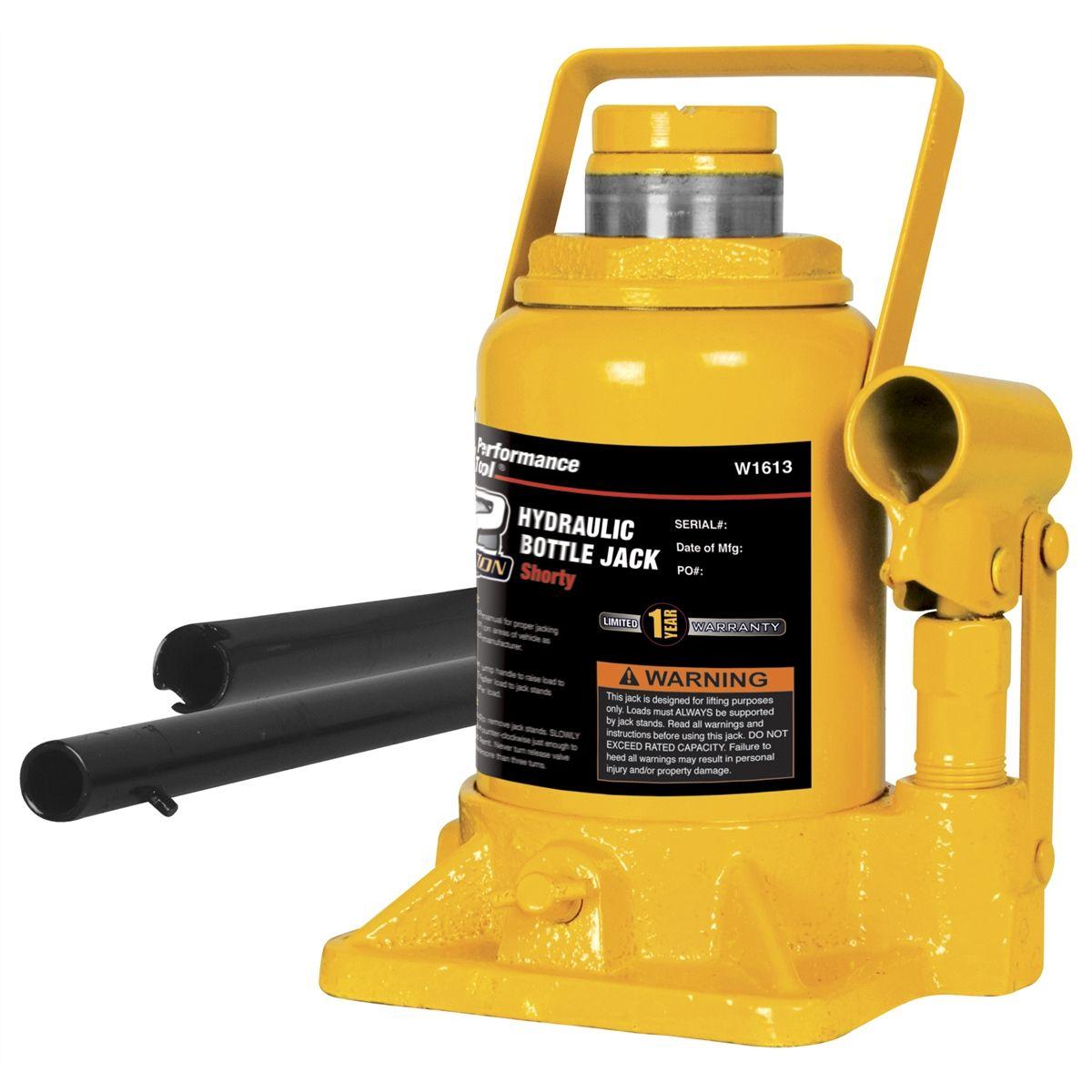 Short Hydraulic Jacks : Wilmar ton shorty hydraulic bottle jack w