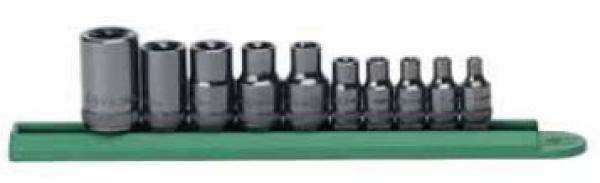 """13pc Tamper Proof Torx Star Bit Socket Set 1//4 inch 3//8 and 1//2/"""" Drive T8 T7"""