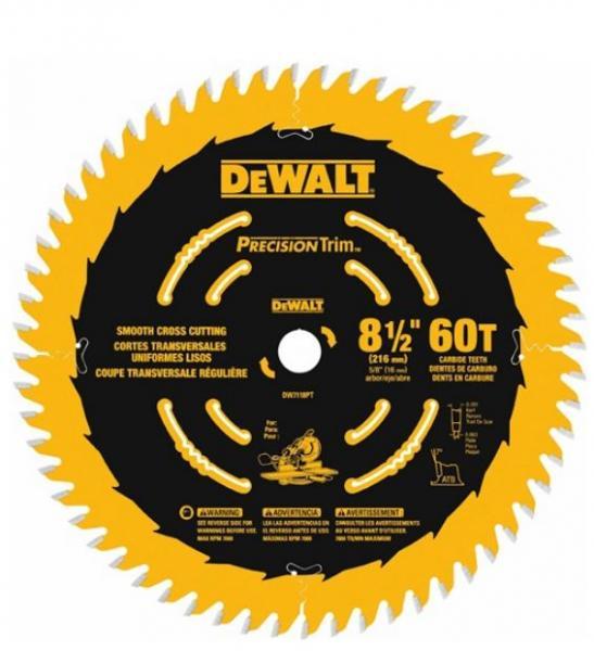 DEWALT DW3578 7-1//4-Inch 24T Framing Carbide Thin Kerf Circular Saw Blade