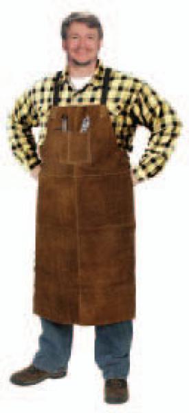 Weld-Rite Premium Brown Split Cowhide Steiner 92166 Bib Apron 24-Inch x 42-Inch