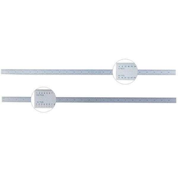Ultratest Chrome Plated Hardened Steel Rule 24 Inch Flex