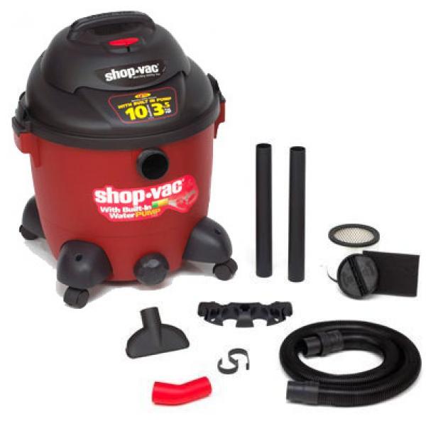 Wet/Dry Vacuum w Pump 10 Gal 3.5 HP
