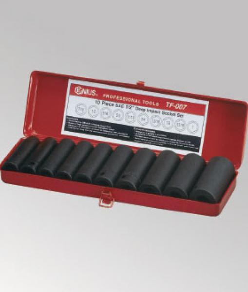 Genius 16 Piece 1//2in Drive Deep Impact Socket Set Metric 10-30mm TD-416M