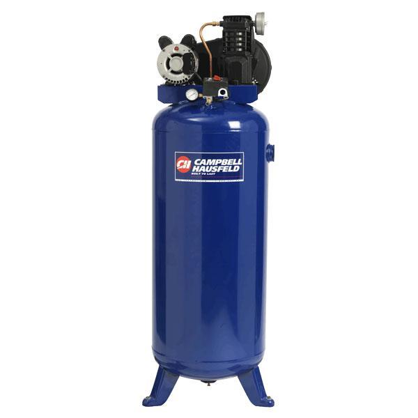 3 2hp ul 240v horizontal air compressor 60 gal campbell hausfeld