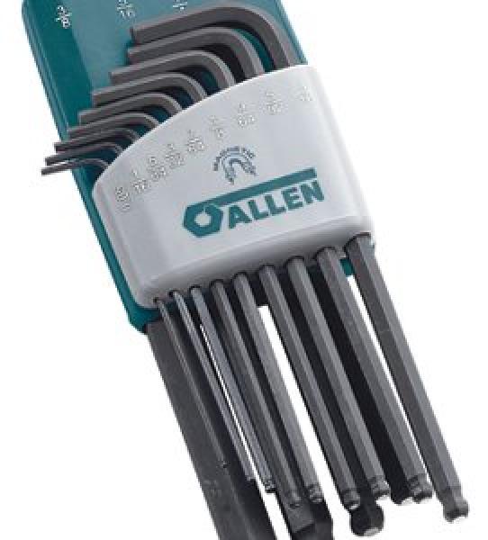 ALLEN 56605G 9-Key Torx Magnetic Long Arm Key Set