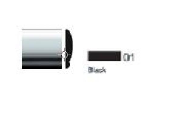 "1"" Taurus Style Body Side Molding Matte Black 20' Kit"