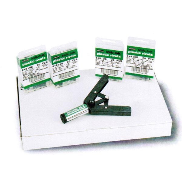, .156 Inch Klik-Lok Plastic Rivets .236-.413 Inch GR Square HD Nylon ST801HS, M48286 Blind Rivets; 3//16 Inch,