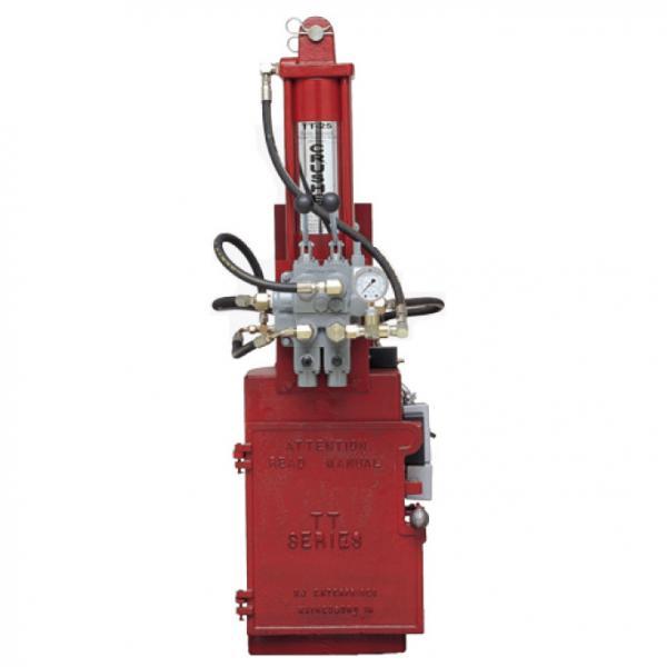 TT25 Electronic over Hydraulic Oil Filter Crusher w Crusher Stan