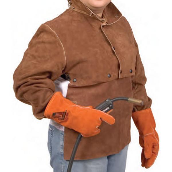 Premium Leather WELD-RITE Cape Sleeve w 14 Inch Bibs XL