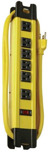 6 outlet metal HD power strip