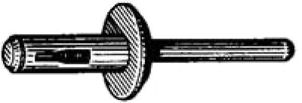 NYLON BLIND RIVET-BLACK 6.3MM