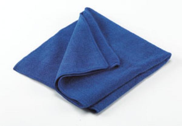 "16"" BLUE MICROFIBER TOWEL"