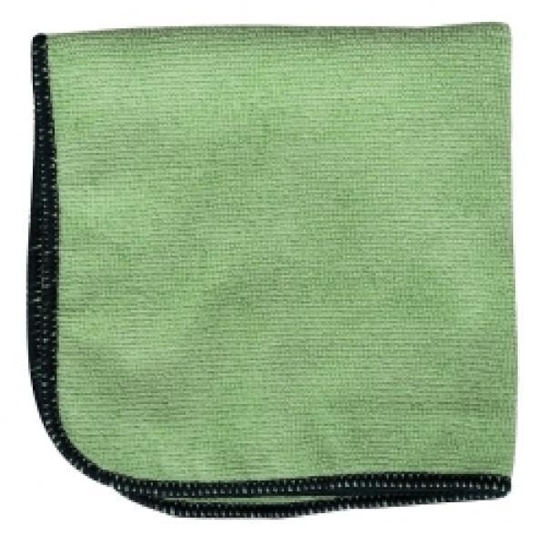 "Detailers 12""x12"" Green microfiber cloth Bag of 12"