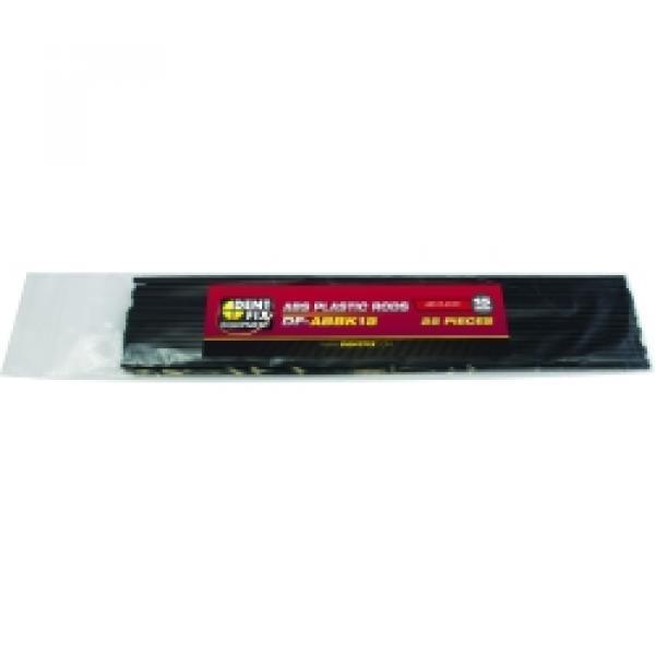25PK 15mm ABS Plastic Rods Round