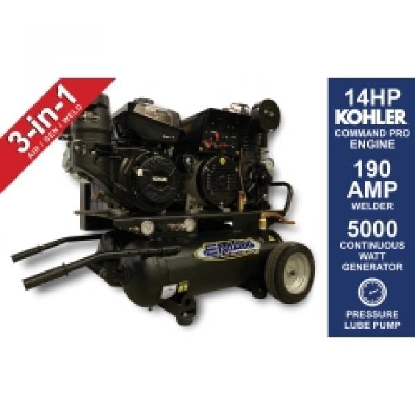 14HP AIR / GEN/ WELDER 20G HOR